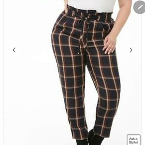 Forever21+ high rise ankle pants